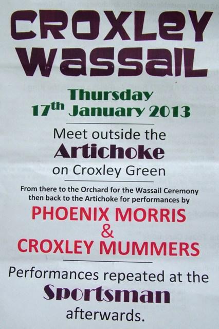 Wassailing at Croxley Green 2013 - Copy