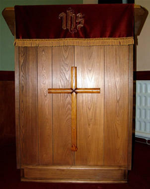 Stuart King's pulpit