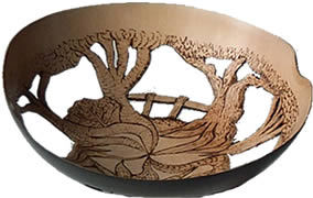 Lime wood bowl