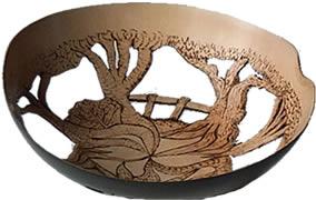 Lime wood bowl