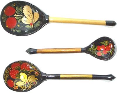 Khokhloma spoons
