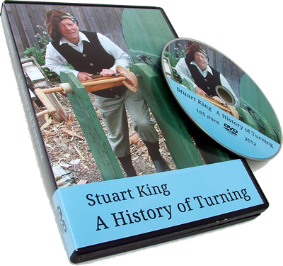 Stuart King's History of Wooodturning DVD