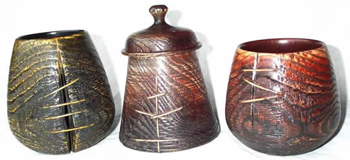 Three Ash token pots