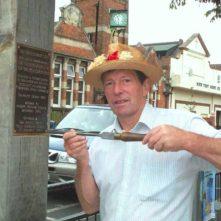 Stuart king affixes the commemorative plaque