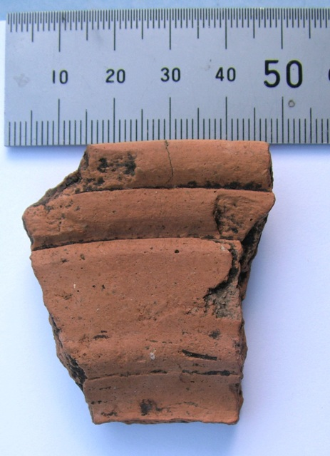 Roman Pottery find, Pos fragment of large platter Holmer Green, Stuart King image