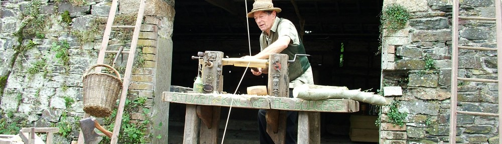 Stuart King filming for BBC TV- Edwardian Farm-Ladder rung making  (6)