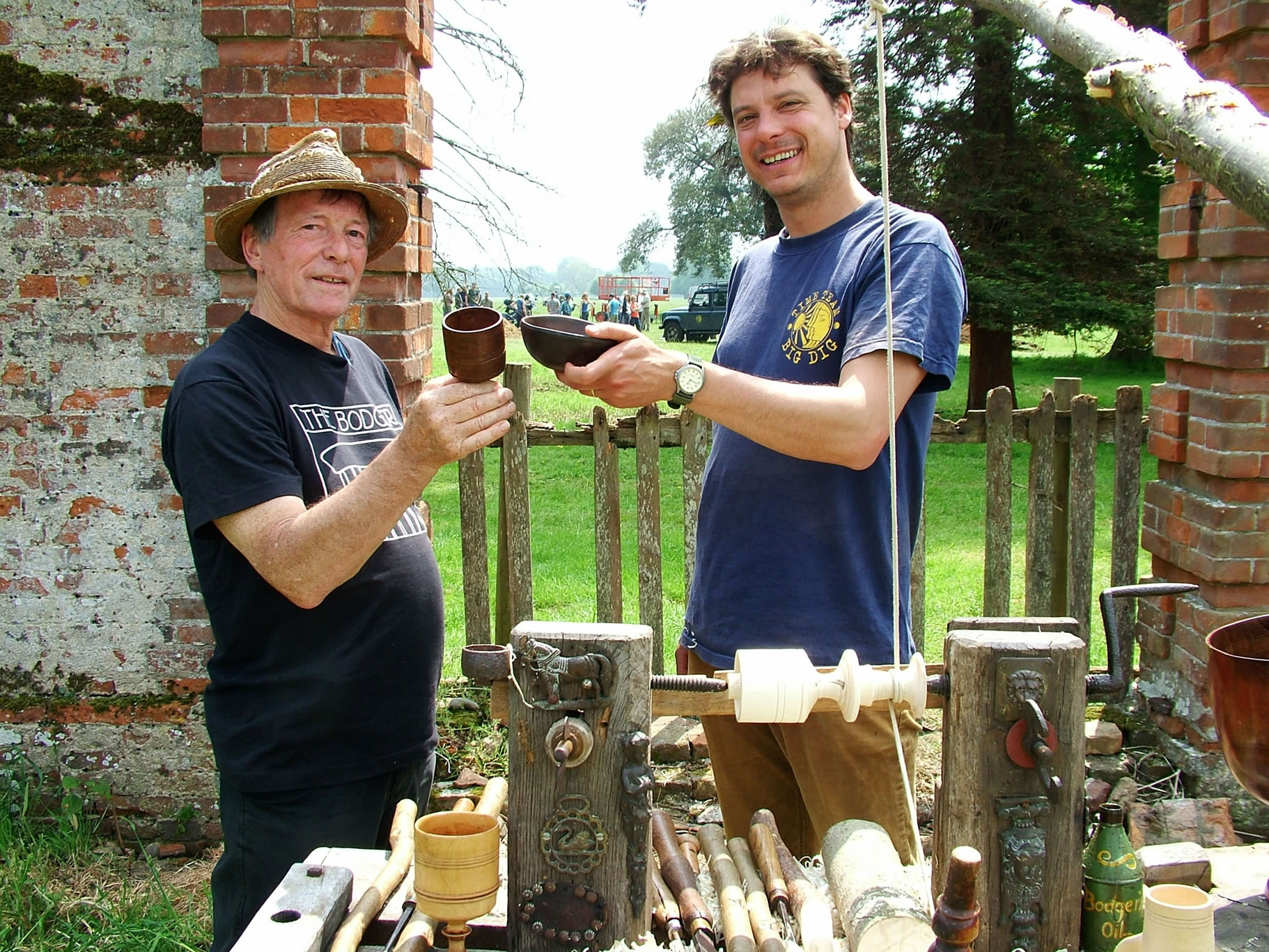 Time Team  Stuart King with Matt Williams-Tudor Dig-Suffolk