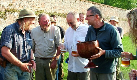 Wassailing on Time Team dig at Henham Park Tudor -Suffolk May 30th-2012-image- Stuart King-