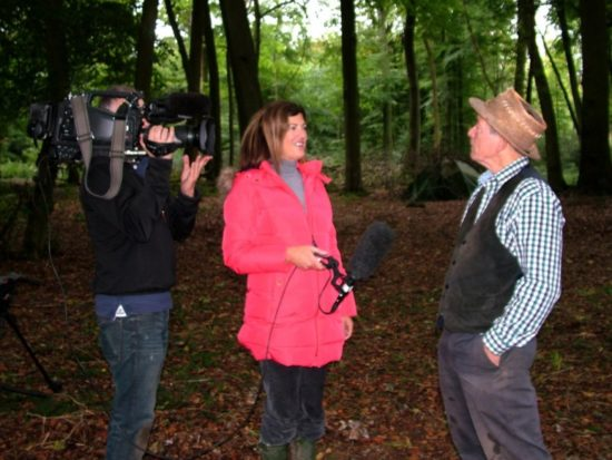 The BBC TV news visits the Wildwood