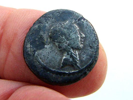 Wildwood treasure- Julius Caesar Denarius 42BC