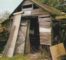 His deserted workshop in 1984