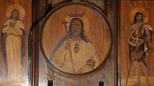 Marquetry panel in Sorrento Cathedral