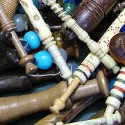 Bone up on Bobbins : the craft of lace bobbin making