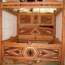 Raymond Harvey's wooden bed