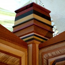 Construction relies on good mortice and tenon joints.